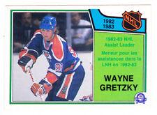 83-84 OPC Wayne Gretzky NHL Assist Leader OPEECHEE Oilers 1983