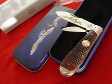 "Colt Knives 3-7/8"" Checkered Bone 2 Blade 175th Anniversary Jack knife Mint ld"