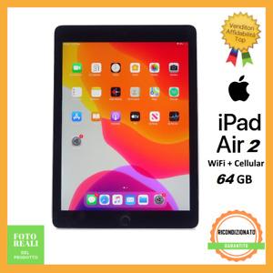 Apple Ipad Air 2 64GB Cellular WiFi 9.7 Nero Ricondizionato Grado B Garanzia ITA