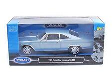 WELLY 1965 CHEVROLET IMPALA SS 396 LIGHT BLUE 1/24 DIECAST MODEL CAR  22417