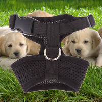 NYLON PET PUPPY SOFT MESH DOG HARNESS STRAP VEST COLLAR FOR SMALL MEDIUM ROSY