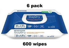 ADULT WIPES or WASHCLOTH - Mckesson Disposable Wipes - 6 pck = 600 Wipes