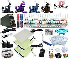 Complete Tattoo Kit 4 Machine Guns Set Equipment Power Supply 40 Colors TKA-8-4