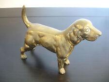 Old Vtg Collectible Brass Cocker Spaniel Dog Animal Figure Figurine