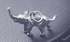 925 Pendant Elephant Charm Jewelry Look New 3D solid Sterling Silver