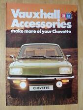 VAUXHALL CHEVETTE ACCESSORIES 1976 UK Mkt Sales Brochure