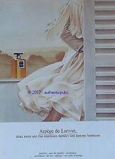 PUBLICITE LANVIN PARFUM ARPEGE ATOMISEUR FEMME HEUREUSE DE 1974 FRENCH AD PUB