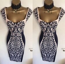 BNWT Lipsy Illusion Fitted Bodycon Mother Of Bride Wedding Evening Dress UK 10