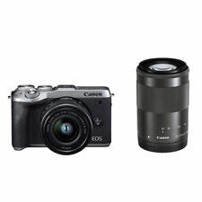 Near Mint! Canon EOS M6 Mark II Double zoom kit Silver - 1 year warranty