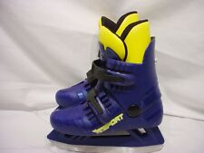 Risport Molded Ice Skates Size 12 Youth Blue & Yellow
