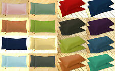Oxford And Housewife Pillow Cases Pair 100% Polycotton Cotton Percale Non Iron