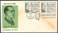 1967 Philippines MANUEL L. QUEZON 6th PRESIDENTIAL GEM SERIES First Day Cover D