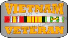 military magnet Vietnam Veteran. Aprox. 3.5 X 2.5 in. Laminated.