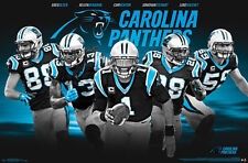 Carolina Panthers SUPERSTARS NFL Football POSTER - Newton Kuechly Olsen Stewart