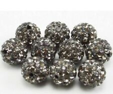 100pcs/lot 10mm mixed white black crystal shamballa beads bracelet DIY spacer