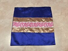 1204  Royal Blue Imported 16 X 16 Pillow Cover with Zipper
