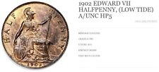 More details for 1902 edward vii, half penny low tide, coin in a unc  hp5
