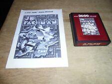 Atari 2600 - Jr. Pac-Man Junior (Red Label) - game cartridge & manual