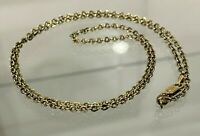 Italian 14K solid gold Oxidized Cable Link Chain Necklace 1.65g / 49.50cm