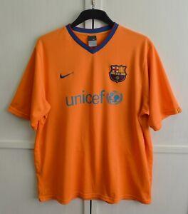 FC Barcelona 2006/2007 Vintage Away Football Shirt Jersey Orange Nike Size 2XL