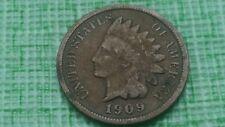 1909 1C Indian Cent Bn, good details nice old Us coin #J140