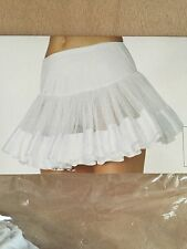 Leg Ave Petticoat Satin Trimmed White with White Stripe-A1036