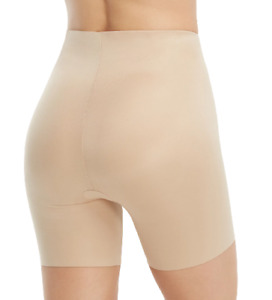 Spanx Medium Suit Your Fancy Butt Enhancer Shaping Shorts Natural Glam Tan M