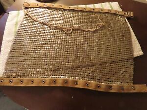 Vintage Heavy Metal Medieval Chainmail Mesh Armor, Unknown use, Square, Lace up