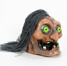 ANIMATED Shaking Hanging Shrunken Decayed Zombie Head Skull Eyes Prop Halloween