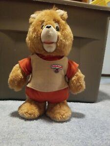 """Teddy Ruxpin Little Boppers 13"""" Bear Plush Doll VTG 1985"""