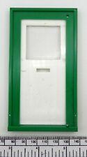 Dolls house door - plain style - white & green plastic for 110x50 mm opening