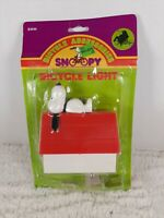 VINTAGE SNOOPY PEANUTS BICYCLE LIGHT 1960'S WITH INSTRUCTIONS