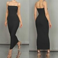 Sleeveless Solid Women's Cocktail Dress Dresses Tight Summer Evening Long Party