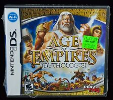 NEW SEALED Age of Empires Mythologies Nintendo DS 2008 THQ WiFi Strategy Game