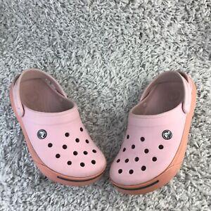 Crocs Womens Shoes UK 6 Eur 39 Pink Slip On Sandals Flipflops