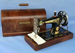 Vintage 1930 Singer 28K Hand Crank Sewing Machine ~ Working Order