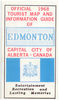 Vintage Official 1968 Tourist Map & Guide of Edmonton, Alberta VERY GOOD COND.