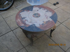 VINTAGE RAISED PAINTED ORIENTAL ROUND TABLE
