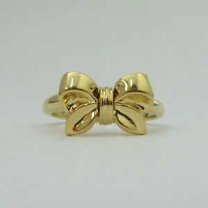 TIFFANY & Co. 18K Yellow Gold Ribbon Bow Ring 5