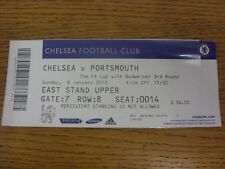 08/01/2012 Ticket: Chelsea v Portsmouth [FA Cup].  This item is supplied by Foot