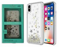 Kate Spade New York Liquid Glitter Case for iPhone XS iPhone X Silver Gold Stars