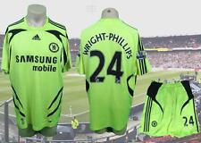 Chelsea 2007-08 EPL away kit shirt maillot shorts Wright-Phillips 24 size L