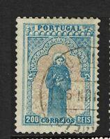 Portugal SC# 143, Used, minor pencil marking on back, Hinge remnant - S7812