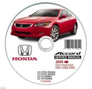 Honda Accord (2009>) Manual de Taller Workshop Manual