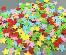 DIY 500pcs Felt Mixed Colors Appliques Cardmaking decoration star shape 16mm