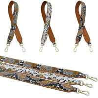 DIY Snake Print Leather Replacement Bag Strap For Women Handbag Bags Accessories
