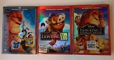 Disney The Lion King Trilogy Blu DVD Individual Sets Diamond & Special Editions