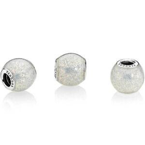 Pandora Charm Bead 796327en144 Silvery Glitter Ball S925 ALE