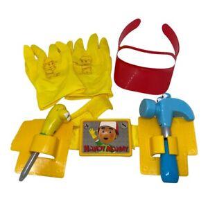 Handy Manny tool belt gloves visor and 2 tools set