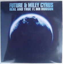 MILEY CYRUS & FUTURE CD Real And True w/ Mr Hudson 3 MIX UK PROMO ONLY